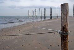 Molo w morzu fotografia stock