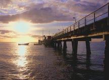 Molo w Pam zatoczce Queensland obrazy royalty free