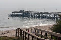 Molo w Punta Del Este Urugwaj obraz stock