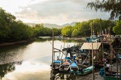 Molo wioska rybacka fotografia royalty free