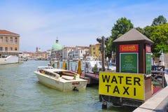 Molo wodny taxi w Wenecja Zdjęcia Royalty Free