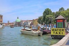 Molo wodny taxi w Wenecja Zdjęcie Stock