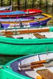 Molo z starymi łodziami w Harlingen Obraz Royalty Free