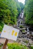 Molochny Melkachtige waterval, Abchazië royalty-vrije stock foto