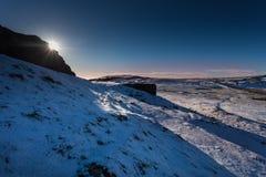 moloda halna słońca Ukraine widok zima Fotografia Stock