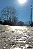 moloda halna słońca Ukraine widok zima Zdjęcia Royalty Free