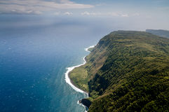 Molokai island coastline view from above Stock Photos