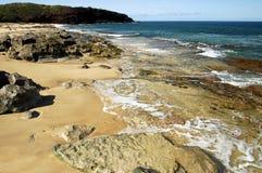 Molokai-Küstenlinie Hawaii stockbilder