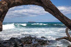 Molokini with Surf Stock Photos