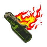 Molotov cocktail icon vector illustration