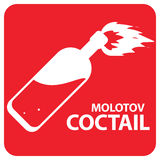 Molotov Cocktail Symbol Stock Photos