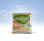 Molped Ultra Sanitary Pads Royalty Free Stock Photo
