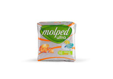 Molped Ultra Sanitary Pads Royalty Free Stock Photos