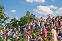 Molta gente ad un parco Fotografia Stock Libera da Diritti