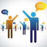 Molta gente grafico che comunica, parlare o di chiacchierata royalty illustrazione gratis