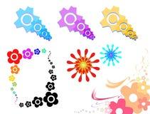 Angolo floreale della molla Illustrazione di Stock