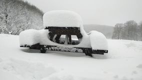 Molta neve fotografia stock
