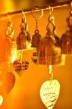 molta piccola campana di bhuddha fotografia stock