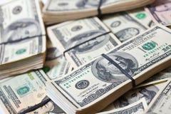 Molte banconote dei dollari americani Fotografia Stock Libera da Diritti