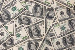 molte banconote di 100 dollari Fotografia Stock