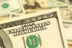 Molte banconote in dollari Fotografia Stock