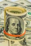 Molte banconote in dollari Immagini Stock