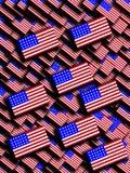 Molte bandiere americane Fotografia Stock