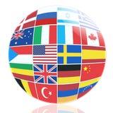 Molte bandiere dei paesi differenti Fotografia Stock