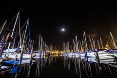 Molte barche sul mare Fotografia Stock