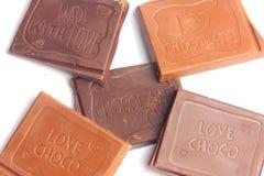Molte barre di cioccolato Immagini Stock