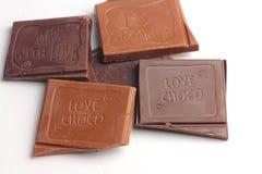 Molte barre di cioccolato Fotografia Stock Libera da Diritti