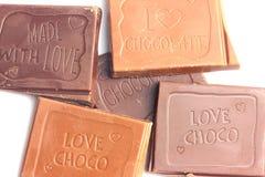 Molte barre di cioccolato Immagine Stock