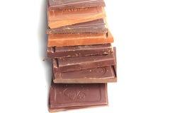 Molte barre di cioccolato Fotografia Stock