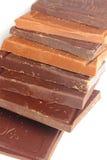 Molte barre di cioccolato Fotografie Stock