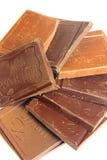 Molte barre di cioccolato Immagini Stock Libere da Diritti