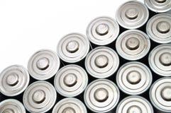 Molte batterie di aa Fotografia Stock