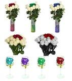 Molte belle rose senza fondo, rose dei fiori isolate in grandi numeri Immagine Stock Libera da Diritti