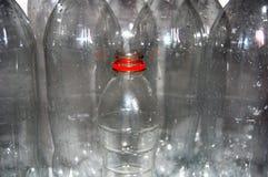 Molte bottiglie della plastica Fotografia Stock