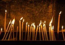 Molte candele Immagini Stock