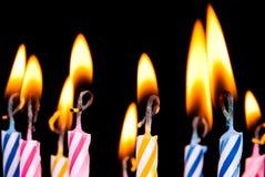 Molte candele colorate Fotografia Stock Libera da Diritti