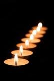 Molte candele del tè Fotografia Stock Libera da Diritti