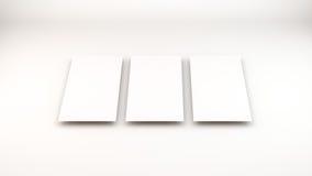molte carte Modello alla presentazione Immagine Stock Libera da Diritti