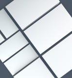 molte carte Modello alla presentazione Fotografia Stock Libera da Diritti