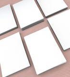 molte carte Modello alla presentazione Fotografie Stock Libere da Diritti
