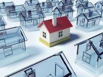 Molte case. Fotografia Stock Libera da Diritti