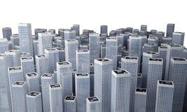 Molte costruzioni moderne Immagini Stock
