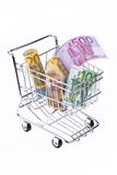 Molte euro banconote Immagini Stock