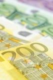 Molte euro fatture differenti Fotografia Stock