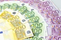Molte euro fatture differenti Immagine Stock Libera da Diritti