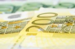 Molte euro fatture differenti Immagini Stock